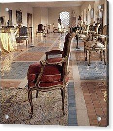 The Living Room Of Baron And Baroness Philippe De Acrylic Print