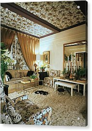 The Living Room Of Leoda De Mar's Home Acrylic Print