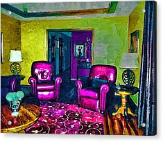 Acrylic Print featuring the painting The Living Room by Tyler Robbins