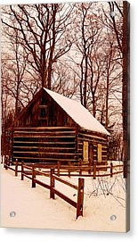 The Log Cabin At Old Mission Point Acrylic Print