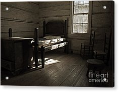 Acrylic Print featuring the photograph The Log Cabin C.1785 by Robert Meanor