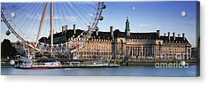 The London Eye And County Hall Acrylic Print by Rod McLean