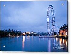 The London Eye Dawn Light Acrylic Print by Donald Davis