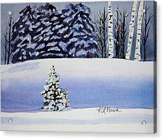 The Lone Christmas Tree Acrylic Print by Patricia Novack