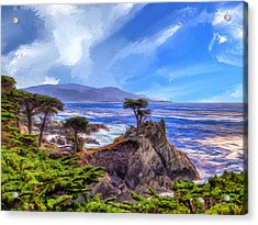 The Lone Cypress Acrylic Print by Dominic Piperata