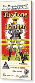 The Lone Ranger, Australian Poster Art Acrylic Print by Everett