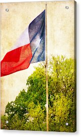 The Lone Star Flag Acrylic Print by Joan Bertucci