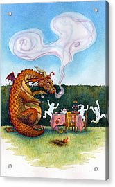 The Lonely Dragon Acrylic Print by Isabella Kung