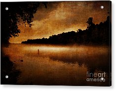 The Lonely Fisherman Acrylic Print
