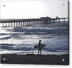 The Lonely Surfer  Acrylic Print