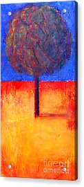 The Lonely Tree In Autumn Acrylic Print
