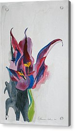 The Lonely Tulip Acrylic Print by Esther Newman-Cohen