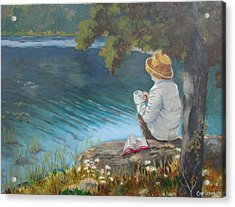 Acrylic Print featuring the painting The Loner by Tony Caviston