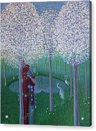 The Long Kiss Acrylic Print by Tone Aanderaa