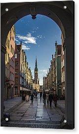 The Long Lane In Gdansk Seen From The Golden Gate Acrylic Print by Adam Budziarek