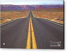 The Long Road Ahead Acrylic Print