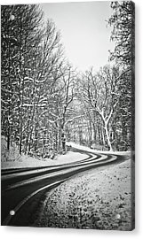 The Long Road Of Winter Acrylic Print