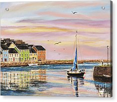 The Long Walk- Evening Sky Acrylic Print by Vanda Luddy