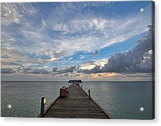 The Long Walk Acrylic Print by HH Photography of Florida