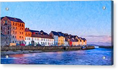 The Long Walk In Galway Ireland Acrylic Print