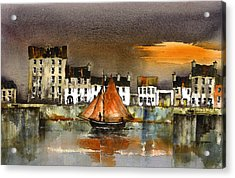 The Long Walk Sunset Galway Citie Acrylic Print
