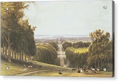 The Long Walk, Windsor Park Acrylic Print by William Daniell