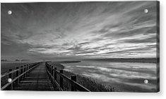 The Long Wooden Footbridge. Dark Version. Acrylic Print