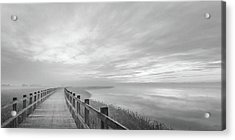 The Long Wooden Footbridge. Acrylic Print