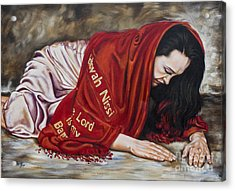 The Lord Is My Banner Yahweh Nissi Acrylic Print by Ilse Kleyn