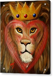 The Lord Of My Heart Acrylic Print by Pamorama Jones