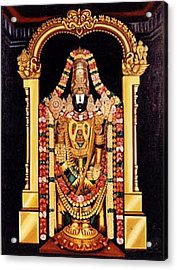Acrylic Print featuring the painting The Lord Of Seven Hills by Ragunath Venkatraman