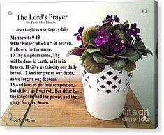 The Lords Prayer Acrylic Print