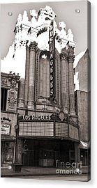 The Los Angeles Theatre - Black And White Acrylic Print by Gregory Dyer