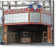 The Los Angeles Theatre Marquee Acrylic Print by Gregory Dyer
