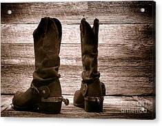 The Lost Boots Acrylic Print by Olivier Le Queinec