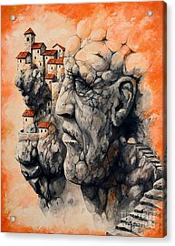 The Lost City - The Sentinel Acrylic Print by Emerico Imre Toth