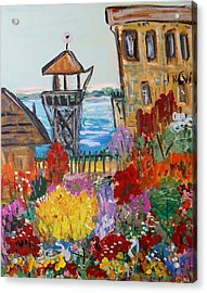 Acrylic Print featuring the painting The Lost Gardens Of Alcatraz by Mary Carol Williams