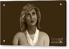 The Lost Princess Acrylic Print by Syed Ghazanfar Ali Shah Bukhari