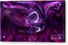 The Lotus Acrylic Print by Ashantaey Sunny-Fay