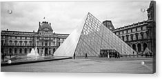 The Louvre  Acrylic Print by Steven  Taylor