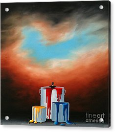 The Love Of Painting Acrylic Print by Ric Nagualero
