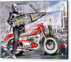 The Love Ray Gun Acrylic Print by Russell Pierce