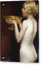 The Loving Cup Acrylic Print by Janet Agnes Cumbrae-Stewart