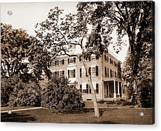 The Lowell House, Cambridge, Lowell, James Russell Acrylic Print