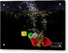 The Lucky 7 Splash Acrylic Print by Rene Triay Photography