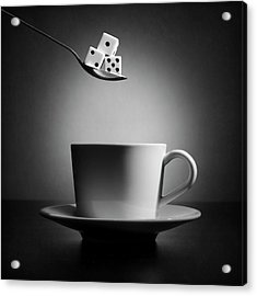 The Lucky Cup Of Coffee (version 2) Acrylic Print by Victoria Ivanova