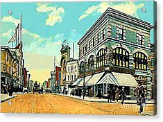 The Lyric Theatre In Jersey City N J Around 1910 Acrylic Print by Dwight Goss