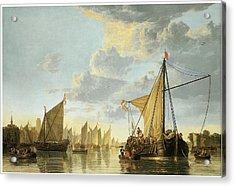 The Maas At Dordrecht Acrylic Print by Aelbert Cuyp