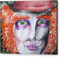 The Mad Hatter Acrylic Print by Isobelle Rothery-Smith