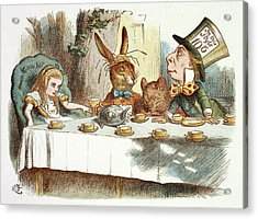 The Mad Hatter's Tea Party Acrylic Print by British Library